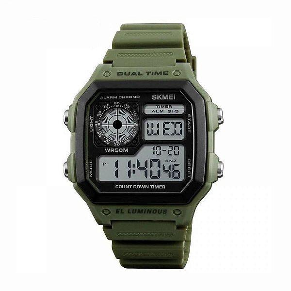 Relógio Masculino Skmei Digital 1299 Verde