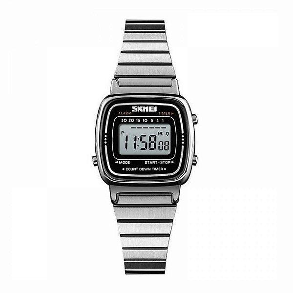 Relógio Feminino Skmei Digital 1252 Prata
