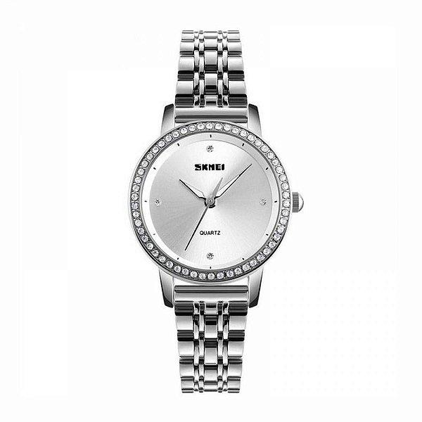 Relógio Feminino Skmei Analógico 1311 Prata