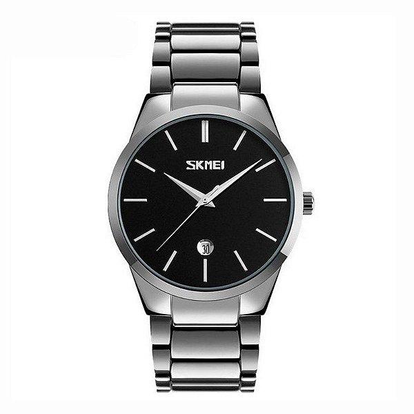 Relógio Masculino Skmei Analógico 9140 Prata e Preto