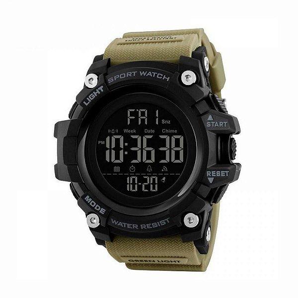 Relógio Masculino Skmei Digital 1384 Preto e Marrom