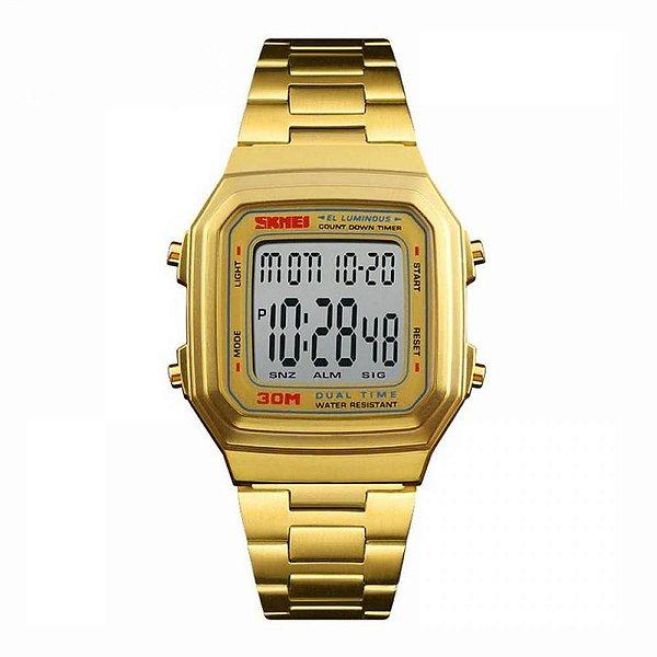 Relógio Feminino Skmei Digital 1337 - Dourado
