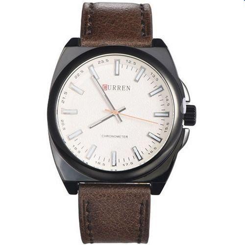 Relógio Masculino Curren Analógico 8168 Marrom e Preto