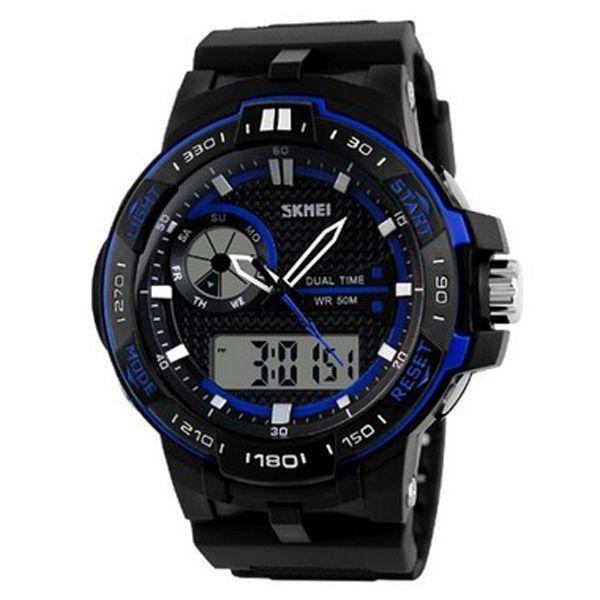 Relógio Masculino Skmei Anadigi 1070 Preto e Azul
