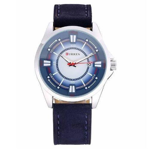 Relógio Masculino Curren Analógico 8155 Azul e Prata