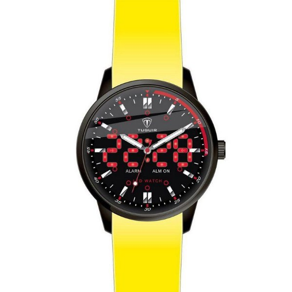 Relógio Masculino Tuguir Anadigi TG2118 Amarelo