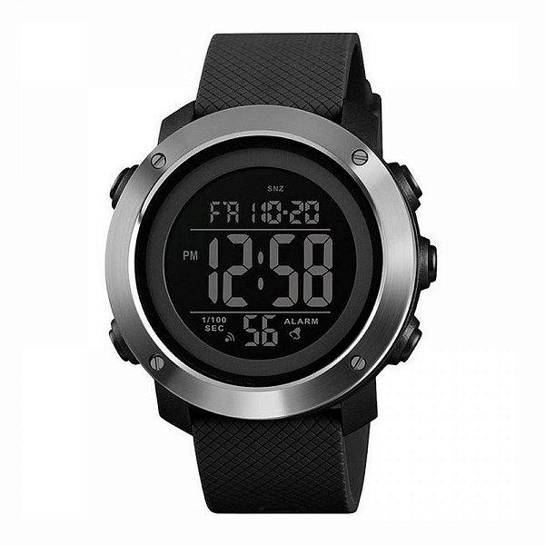 Relógio Masculino Skmei Digital 1416 Prata e Preto