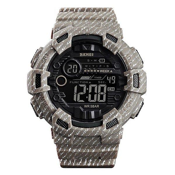 Relógio Masculino Skmei Digital 1472 - Bege e Preto