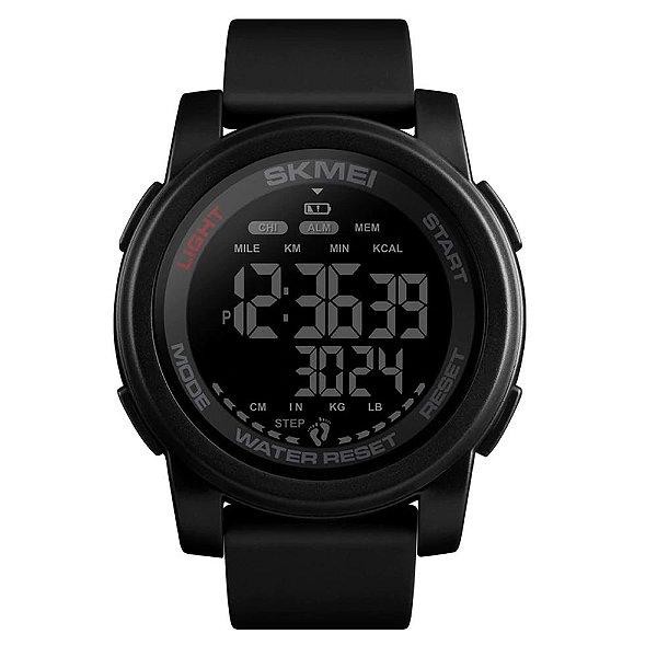 Relógio Pedômetro Masculino Skmei Digital 1469 - Preto
