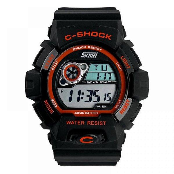 Relógio Masculino Skmei Digital 1007 Laranja