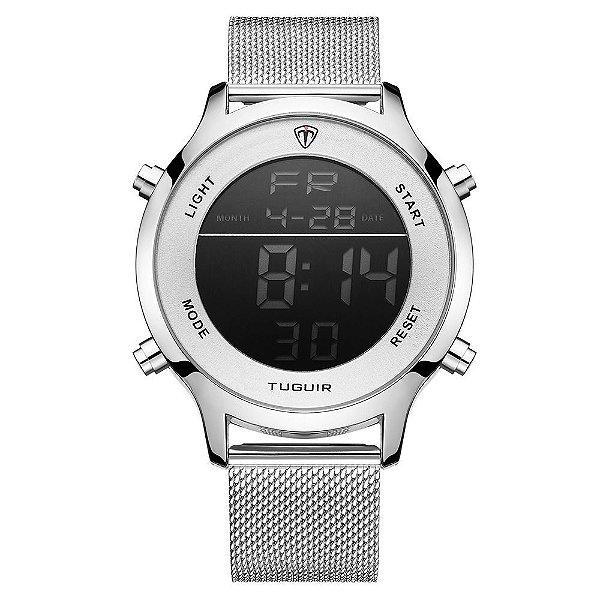 Relógio Unissex Tuguir Digital TG101 - Prata