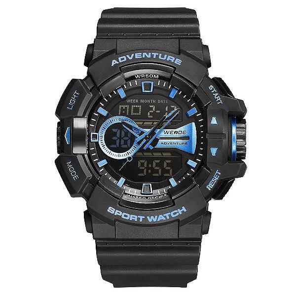 Relógio Masculino Weide AnaDigi WA3J8002 - Preto e Azul