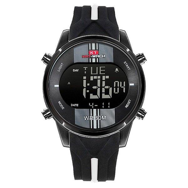 Relógio Masculino Kat-Wach Digital KT716 - Preto e Branco