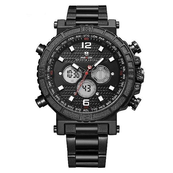 Relógio Masculino Weide AnaDigi WH6305 - Preto