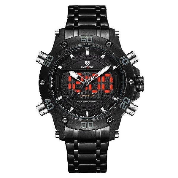 Relógio Masculino Weide AnaDigi WH6910 - Preto