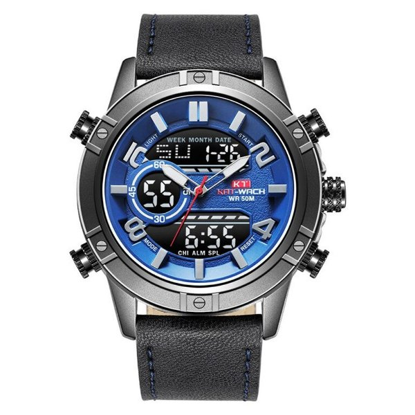 Relógio Masculino Kat-Wach AnaDigi KT1807 - Azul e Preto