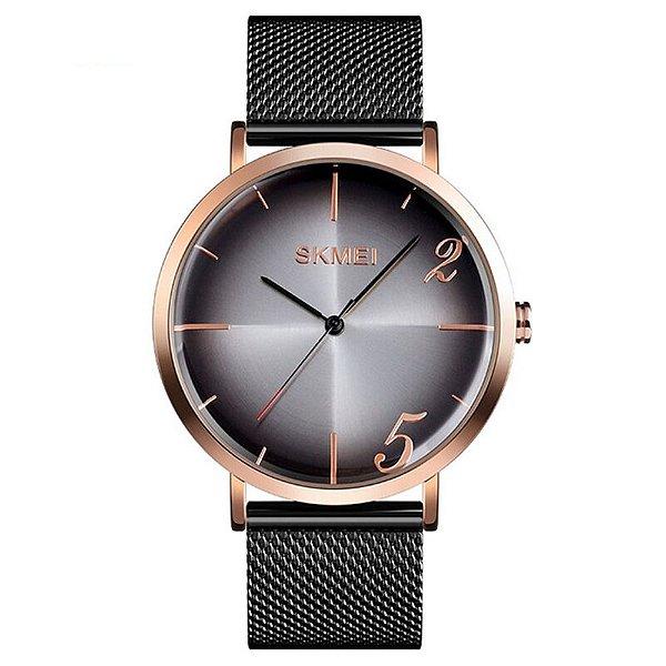 Relógio Feminino Skmei Analógico 9200 - Preto e Rosé
