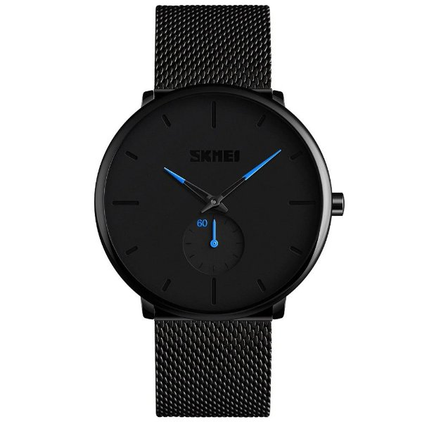 Relógio Masculino Skmei Analógico 9185 - Preto e Azul