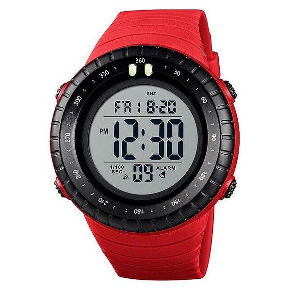 Relógio Masculino Skmei Digital 1420 - Vermelho e Preto