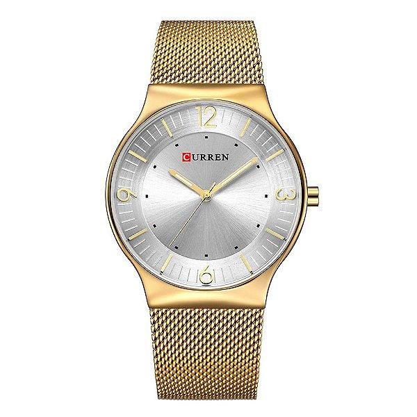 Relógio Feminino Curren Analógico 8304 - Dourado