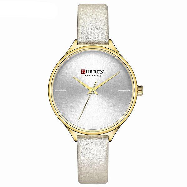Relógio Feminino Curren Analógico C9062L - Dourado e Prata