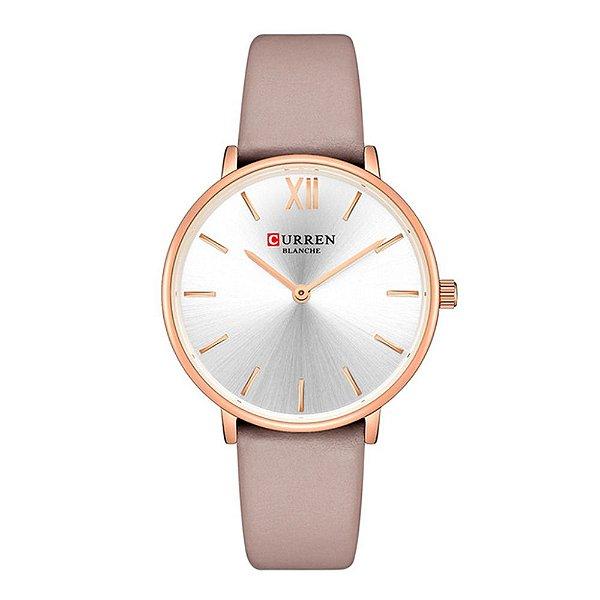 Relógio Feminino Curren Analógico C9040L - Rosa