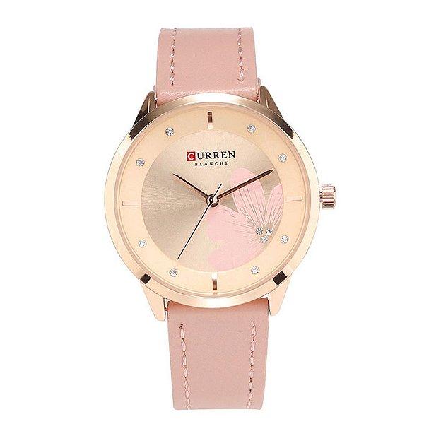 Relógio Feminino Curren Analógico C9048L - Rosa