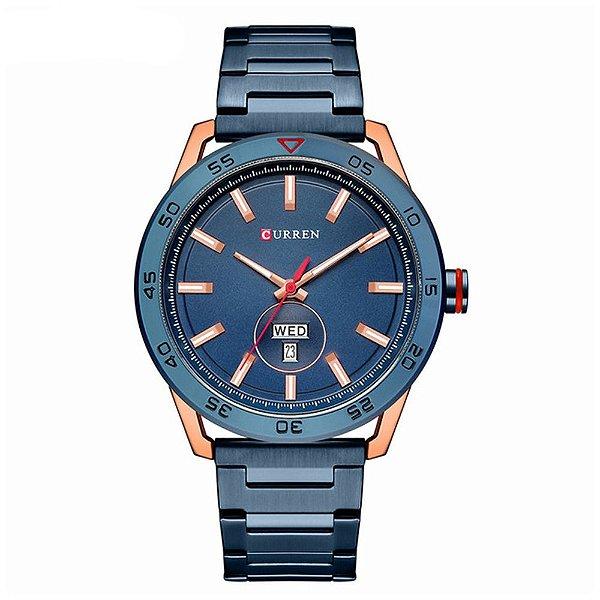 Relógio Masculino Curren Analógico 8331 - Azul e Rose