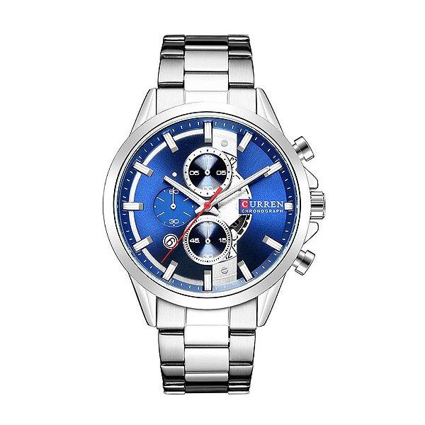 Relógio Masculino Curren Analógico 8325 - Prata e Preto