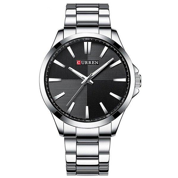Relógio Masculino Curren Analógico 8322 - Prata e Preto