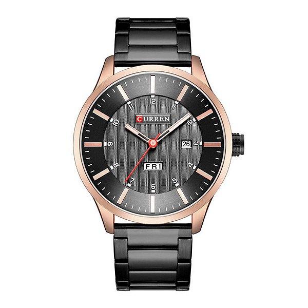 Relógio Masculino Curren Analógico 8316 - Preto e Rose