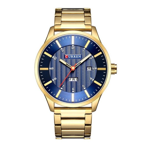 Relógio Masculino Curren Analógico 8316 - Dourado e Azul