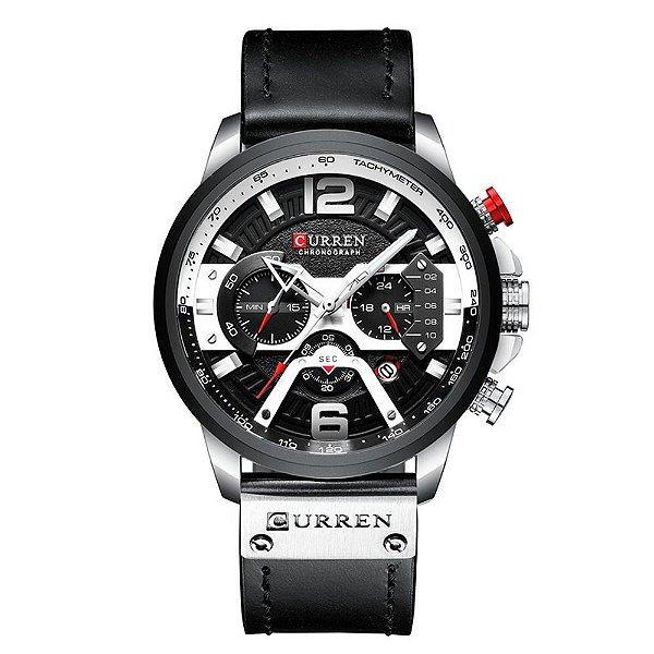 Relógio Masculino Curren Analógico 8329 - Preto e Prata