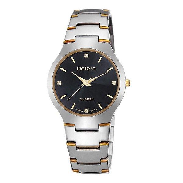 Relógio Feminino Weiqin Analógico W4164G - Prata e Preto