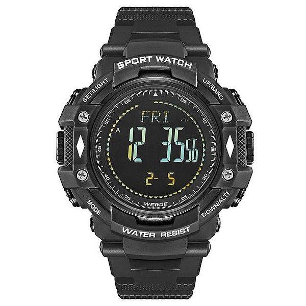 Relógio Pedômetro Masculino Weide Digital WA-9J001 - Preto