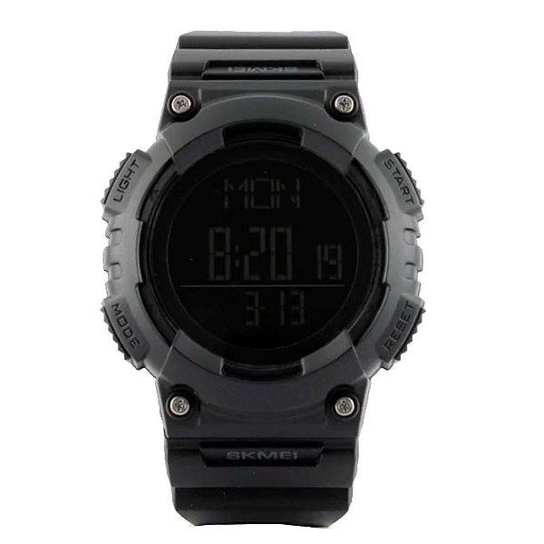 Relógio Pedômetro Masculino Skmei Digital 1298 - Preto