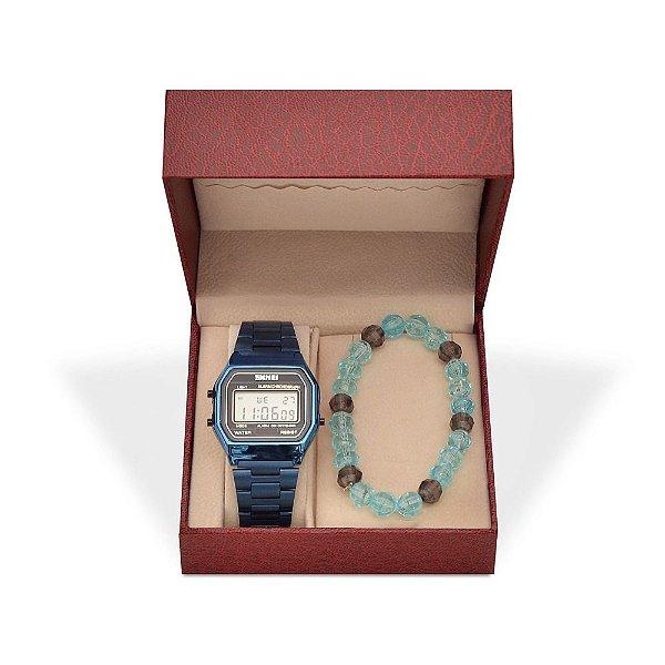 Kit Relógio Unissex Skmei Digital 1123 e Pulseira