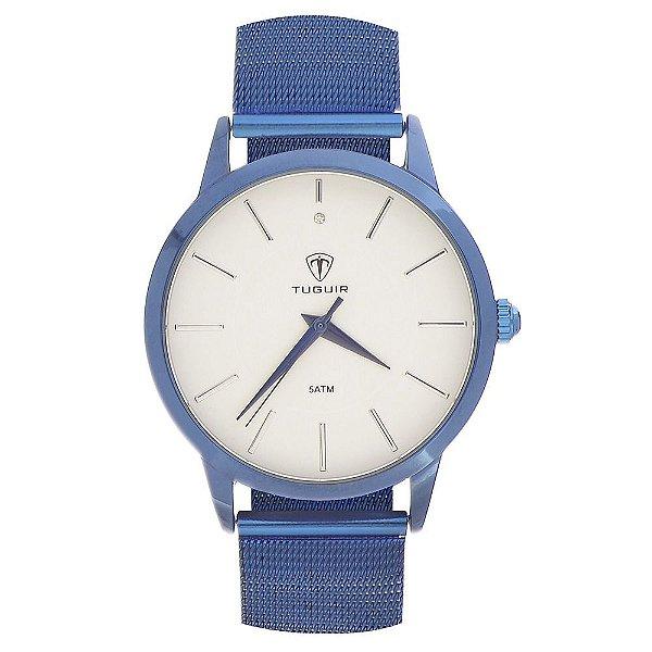 Relógio Feminino Tuguir Analógico TG106 - Azul e Branco