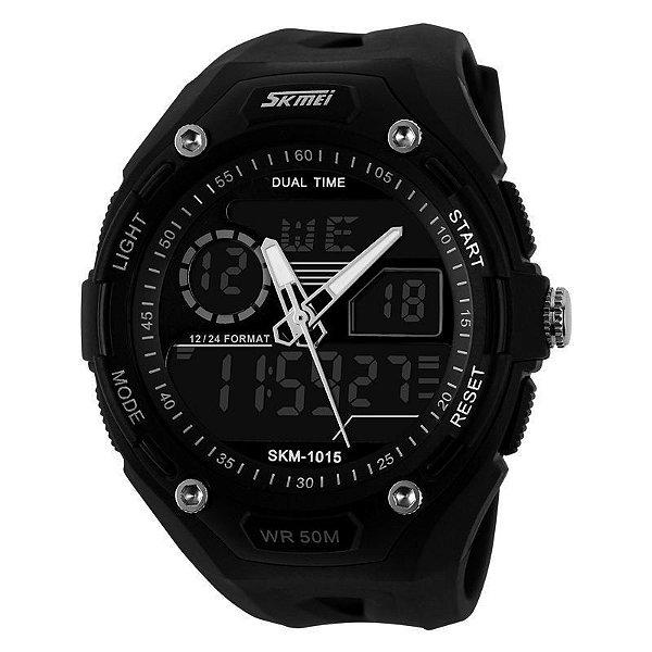 Relógio Masculino Skmei Anadigi 1015 Preto
