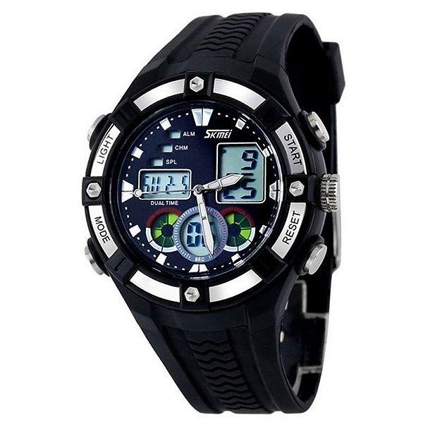 Relógio Masculino Skmei Anadigi 0930 Preto
