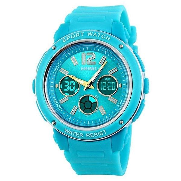 Relógio Feminino Skmei Anadigi 1051 Azul