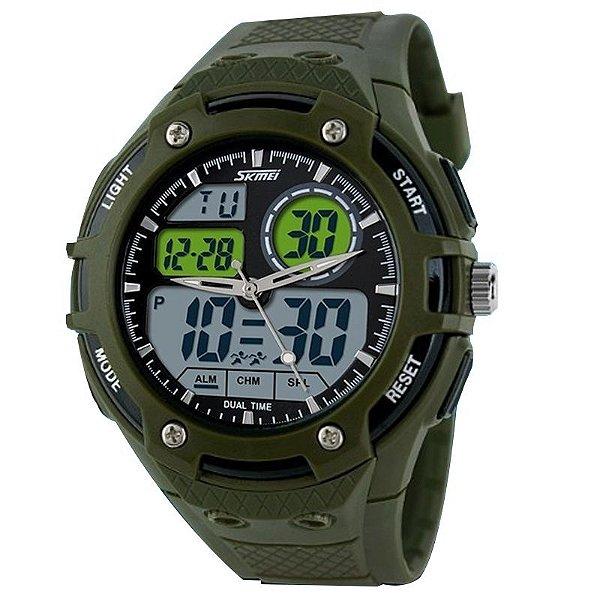 Relógio Masculino Skmei Anadigi 1018 Verde
