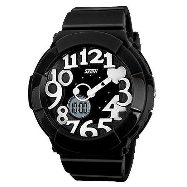 Relógio Skmei Anadigi 1020 Preto e Branco