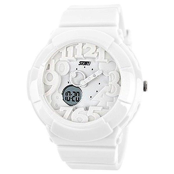 Relógio Feminino Skmei Anadigi 1020 Branco