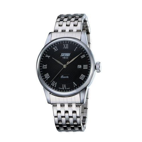 Relógio Masculino Skmei Analógico 9058 Prata e Preto