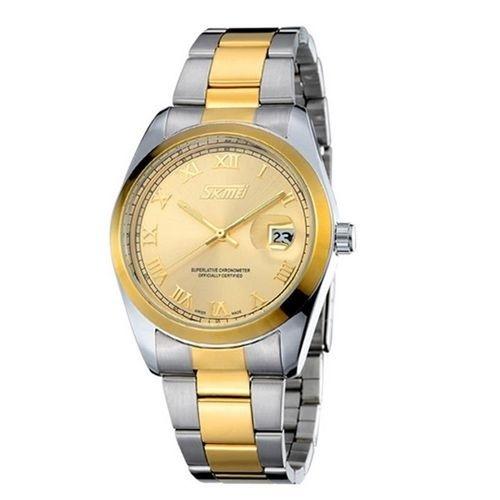 Relógio Masculino Skmei Analógico 9062 Dourado
