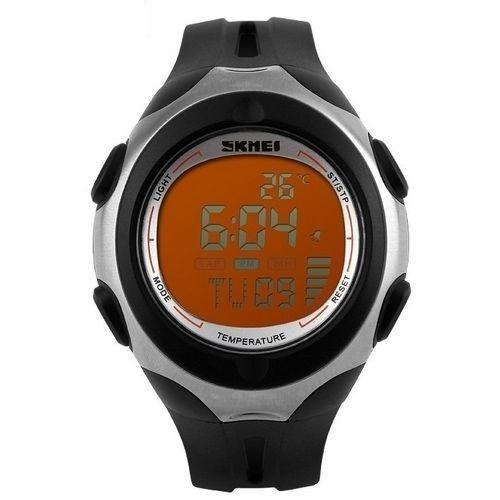 Relógio Masculino Skmei Digital 1080 Preto e Laranja