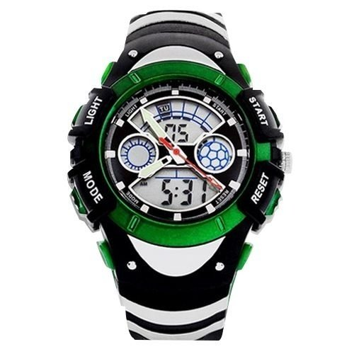 Relógio Masculino Skmei Anadigi  0922 Preto e Verde