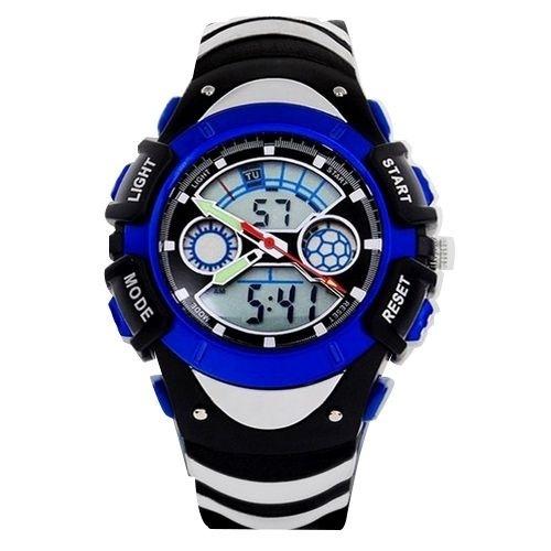 Relógio Masculino Skmei Anadigi  0922 Preto e Azul