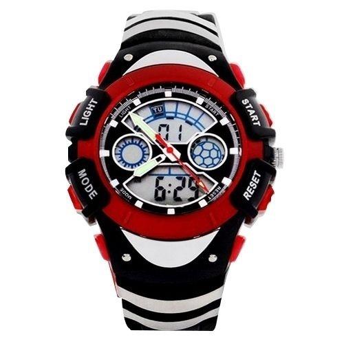Relógio Masculino Skmei Anadigi  0922 Preto e Vermelho